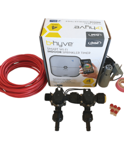 Orbit B-hyve WiFi Controller 4 Station-2x 13mm Barb Manifold Solenoid Valves & Wire Combo -FreeSensor