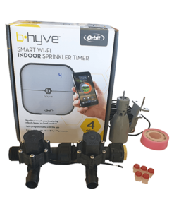 Orbit B-hyve WiFi Controller 4 Station-2x 19mm Barb Manifold Solenoid Valves Combo -FreeSensor