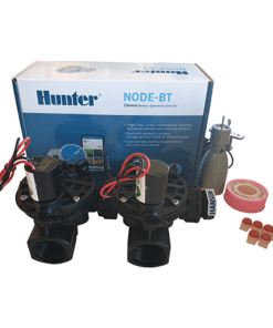 Hunter NODE BT (Bluetooth) 200 Kit - Solenoids,3M Connectors,Rain Sensor, 9V Battery Operated
