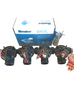 Hunter NODE BT (Bluetooth) 400 Kit - Solenoids,3M Connectors,Rain Sensor, 9V Battery Operated