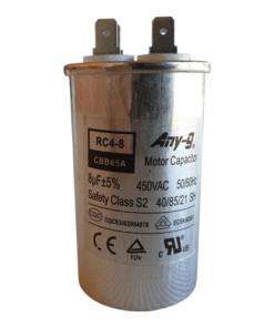 8uF (8MFD) Capacitor 450VAC